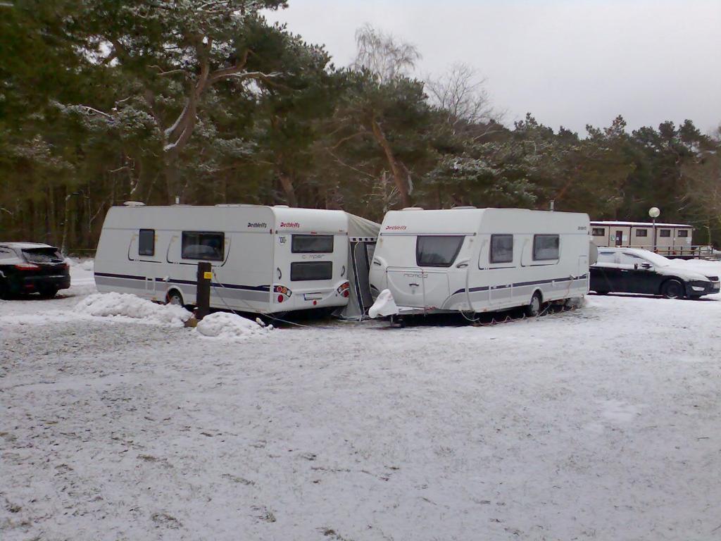 Langzeitcamping in Thiessow ist auch im Winter möglich