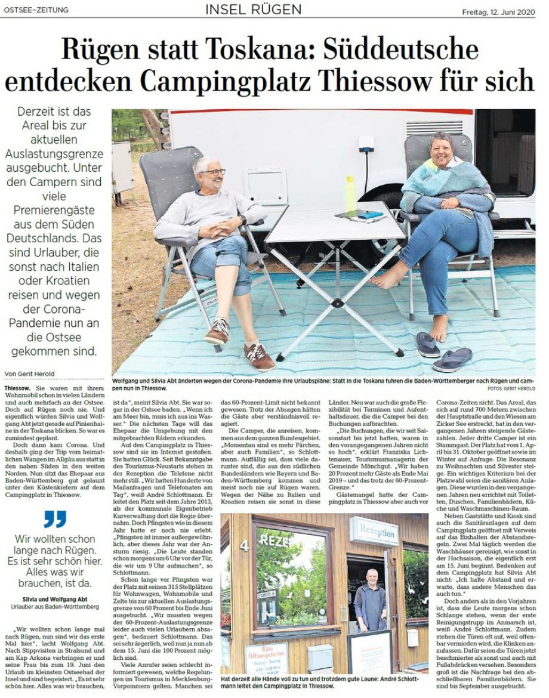 Ostsee-Zeitung, 12. Juni 2020